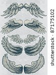 wing set 1 | Shutterstock .eps vector #87175102