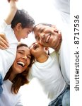 family lifestyle portrait of a... | Shutterstock . vector #8717536