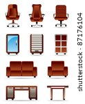 business office furniture icon... | Shutterstock .eps vector #87176104