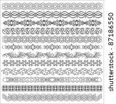 vector set of borders for... | Shutterstock .eps vector #87186550