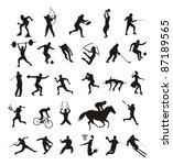 sport   silhouttes | Shutterstock .eps vector #87189565