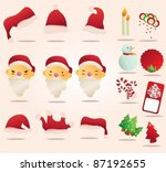 set vector of  santa claus and... | Shutterstock .eps vector #87192655