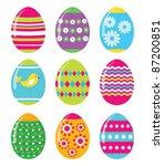easter eggs vector set  eps10   Shutterstock .eps vector #87200851