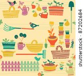 garden objects | Shutterstock .eps vector #87202684
