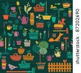 garden objects | Shutterstock .eps vector #87202690