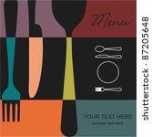 restaurant menu | Shutterstock .eps vector #87205648