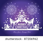 christmas card design | Shutterstock .eps vector #87206962