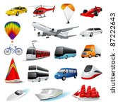 vector set  transport | Shutterstock .eps vector #87222643