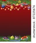 christmas theme decorated card... | Shutterstock .eps vector #87225676