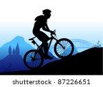 mountain biking vector | Shutterstock .eps vector #87226651