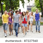 multi ethnic group of people... | Shutterstock . vector #87227560