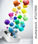 Vector   Colorful Flying Cubes...
