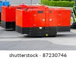 mobile electric power generator ... | Shutterstock . vector #87230746