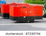 mobile electric power generator ... | Shutterstock . vector #87230746