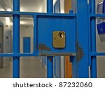 Prison Door Lock Close Up