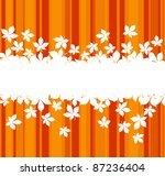 Autumnal  leaves background with frame for seasonal design. Rasterized version also available in gallery - stock vector