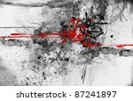 highly detailed grunge abstract ... | Shutterstock . vector #87241897