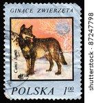 poland   circa 1975  a stamp... | Shutterstock . vector #87247798