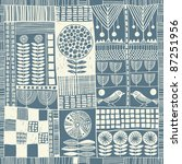 Seamless Pattern In Style Of...