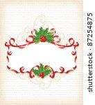 christmas holly banner... | Shutterstock .eps vector #87254875