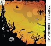 halloween background design... | Shutterstock .eps vector #87262522