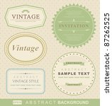 vector set  vintage labels | Shutterstock .eps vector #87262525