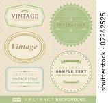 vector set  vintage labels | Shutterstock .eps vector #87262525