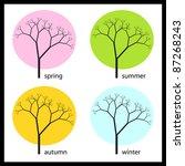 tree  four seasons   Shutterstock .eps vector #87268243