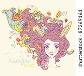 alice in wonderland | Shutterstock .eps vector #87269161