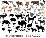 illustration with farm animals... | Shutterstock .eps vector #87271120