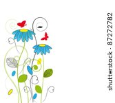 Cute Flowers Postcard On...