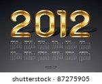 2012 Gold Calendar