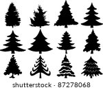 christmas tree collection | Shutterstock .eps vector #87278068