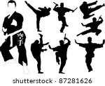 Silhouettes Of Martial Arts...