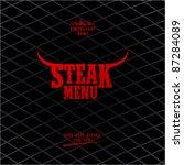 steak menu card design template.   Shutterstock .eps vector #87284089