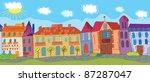 summer town seamless pattern... | Shutterstock .eps vector #87287047