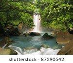Celestial Blue Waterfall In...