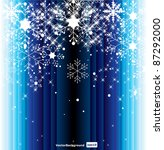 abstract blue christmas... | Shutterstock .eps vector #87292000