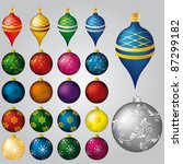 vector set of 22 christmas... | Shutterstock .eps vector #87299182