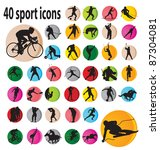 sport icons. vector illustration | Shutterstock .eps vector #87304081