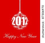 stylized new year 2012 ornament ... | Shutterstock .eps vector #87306970