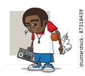 streetball  character. vector... | Shutterstock .eps vector #87318439