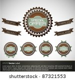 special offer labels with retro ... | Shutterstock .eps vector #87321553
