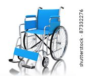 3d wheelchair isolated on white ... | Shutterstock . vector #87332276