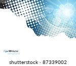 elegant blue background | Shutterstock .eps vector #87339002