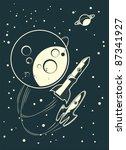 rockets racing | Shutterstock .eps vector #87341927