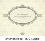 vintage frame on seamless... | Shutterstock .eps vector #87342086
