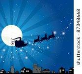 santa's sleigh  vector... | Shutterstock .eps vector #87348668