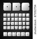 square vector alphabet | Shutterstock .eps vector #87352754
