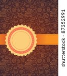tea background with ribbon  ... | Shutterstock .eps vector #87352991